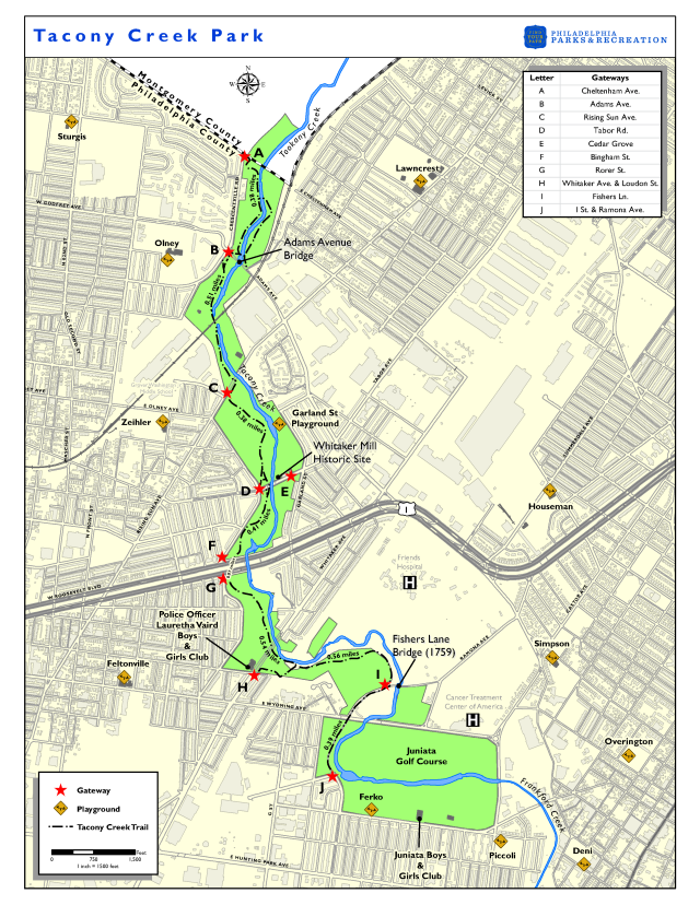 Tacony Creek Park Map